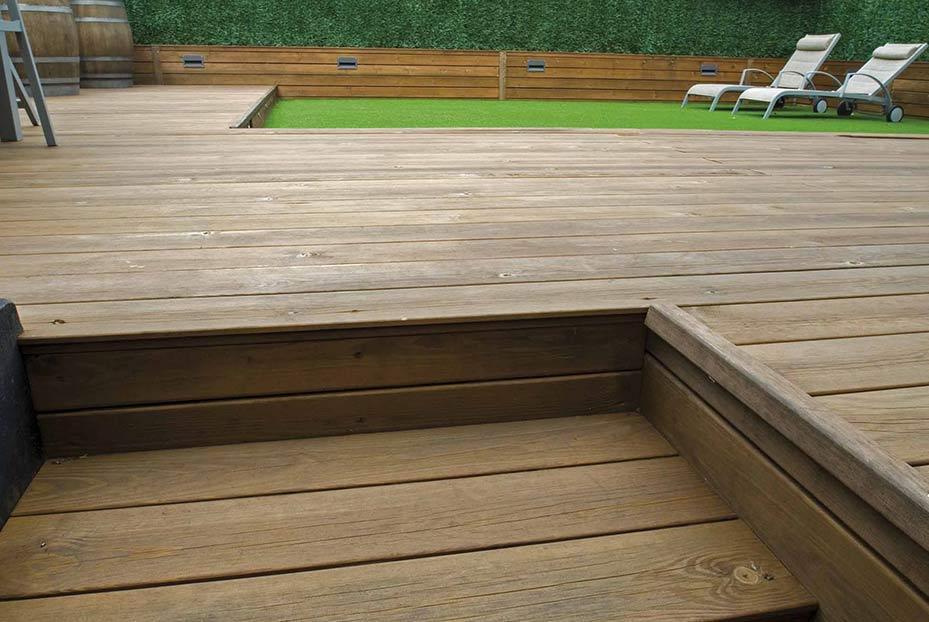 Tarimas naturales de exterior y tarimas sint ticas de - Tarimas de madera para exterior ...